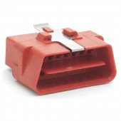 Connector Shell, J1962M w/ Clip, Red